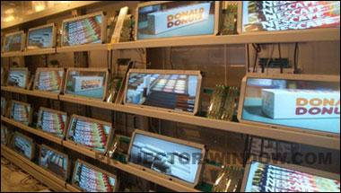 透明 电子/透明显示器可在商场的展示橱窗、电子海报、电子展示柜、自动...